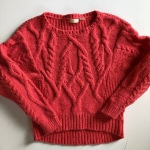 [anthropologie] sleeping on snow cabled sweater
